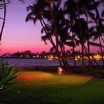 Sunset in downtown Kailua-Kona