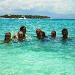 Snorkelling during the island hopping tour