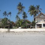 Hotel seen from beach