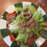 Beef fillet with salad