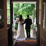 picturesque house and setting; love my wedding pictures!