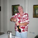 John opening wine