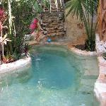 The pool outside rooms 1 and 2