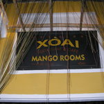 The entrance to Mango Rooms