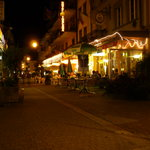 Pizzeria Sternen Da Mario at night