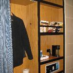 Safe, hanging area, coffe maker
