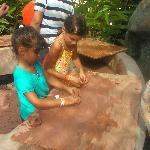 Playing with mud in Punto en Barro