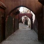 Te passageway outside the Riad