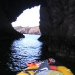 Sea cave out at the point