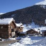Back of hotel from ski slope