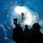 Blue ice cave on Mendenhall Glacier