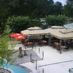 Riverside dining terrace