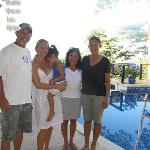 Me, Stephanie and Lia, my wife and Hazy--last day