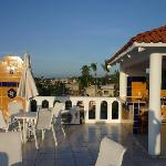 360 degree views from Tina's fabulous rooftop terrace with fully equipped palapa kitchen, even a