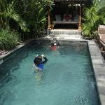 The private pool and day bed