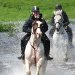Riding in water