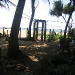 gate from the front garden to beach