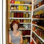Pam in her pantry