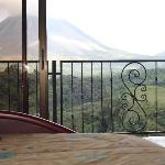 View from our Master Suite of Volcan Arenal