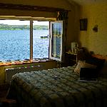 Our wonderful room with the view of the water