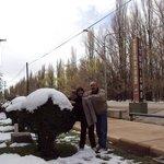 Malargüe:  nieve en la Dirección de Turismo