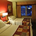 Room on main level of bi-level suite.