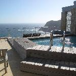 our private terrace and pool