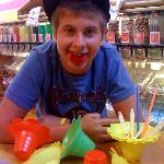 Shave Ice eating champion!!!