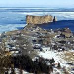 encore une meilleur vu sur le mont st anne du rocher de percé