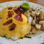 forgot to mention the amazing eggs benedict on blue corn cakes!