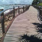 Boardwalks along the beach front