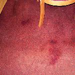 carpet stains that look like blood to me