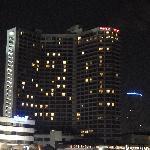 vista dell'hotel dal fiume