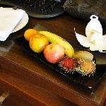 frutta e cioccolata in camera