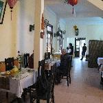 Adjacent restaurant where breakfast is served