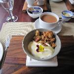 Home made museli & yoghurt - yum!!