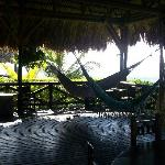 Hammock area--also has tables and bar.  Great for a party!
