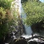 uno de los saltos de agua