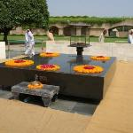 Ganghi's samadhi at Rajghat - the site of his cremation