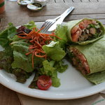 Poke wrap with green salad choice