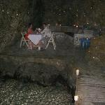 dinner in a cave with hundreds of lit candles - so romantic