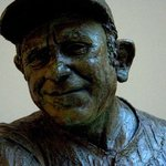Bust of Yogi Berra at the National Portrait Gallery.