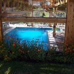 Una de las piscinas semicubierta