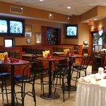 Legends Restaurant has plenty of seating and with over 30 TV's there is never a bad seat to watc