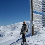 steph skiing at Cardrona