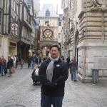 Along the streets of Rouen and with the Gros Horloge behind me