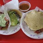 Pork Adobada Taco, Carne Asada Taco, Mulita