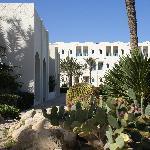 Garten zwischen Hotel und Poolanlage