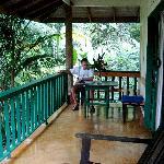Our bungalow deck
