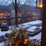 winter view onto the Canal taken from the Bed and Breakfast